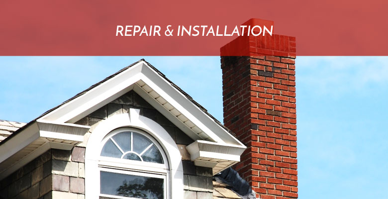 Chimney repair and installation.